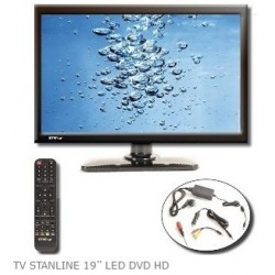 "TV LED HD DVD 19 STANLINE"""