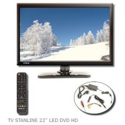 "TV LED HD DVD 22 STANLINE"""